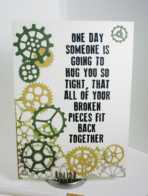 this simple note card is made for a friend or relative who