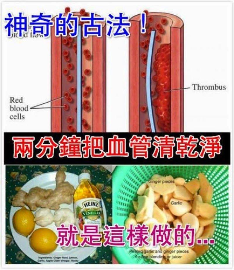 花2分鐘就能給父母和親朋好友的超級大禮!miracle remedy for blocked blood arteries?