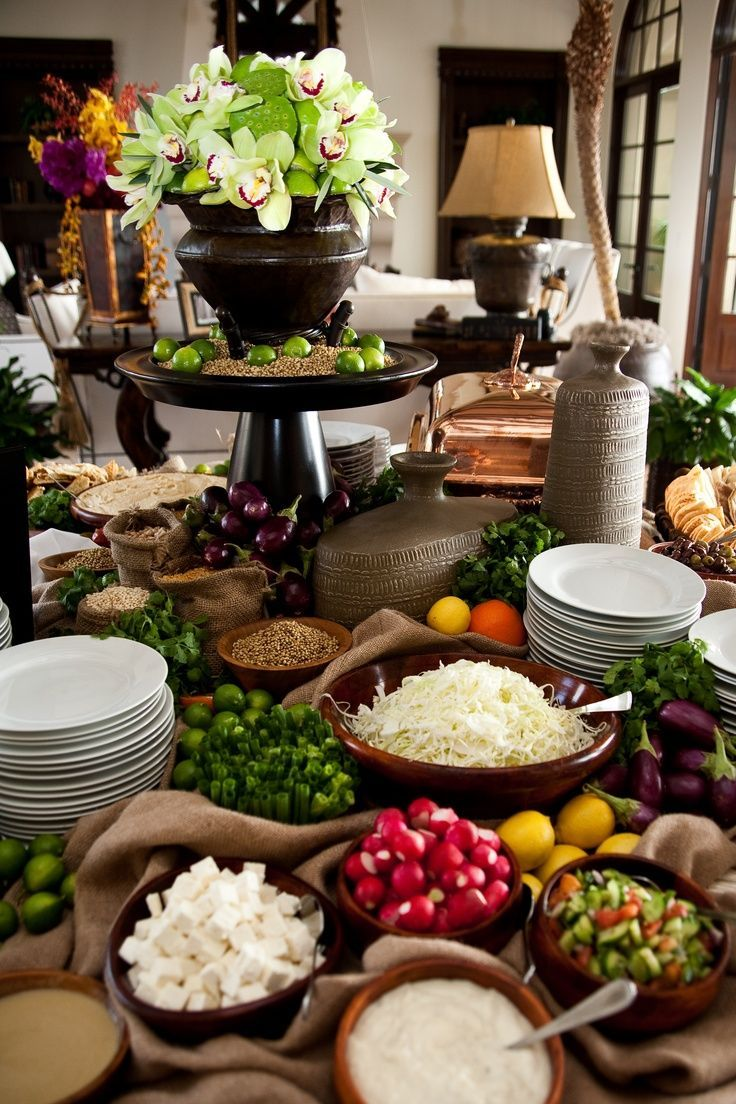 Wedding Reception Buffet Menu Ideas