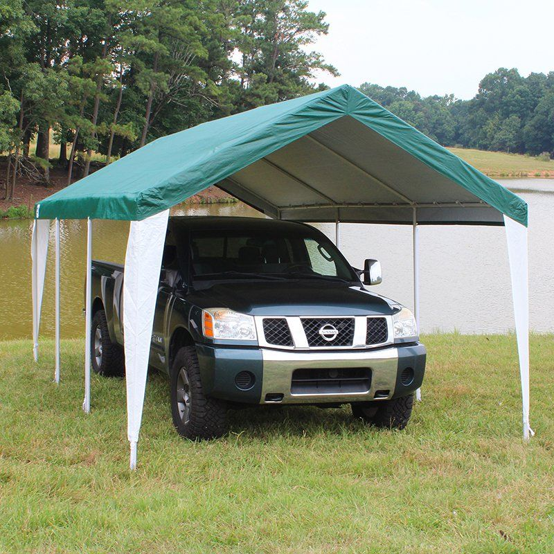King Canopy 10 x 20 ft. Hercules 8 Leg Two Tone Carport