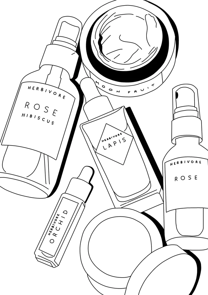 The Top Shelfie Colouring Book Beauty Illustrated By Lauren Kickstarter Cosmetics Illustration Coloring Books Tumblr Coloring Pages