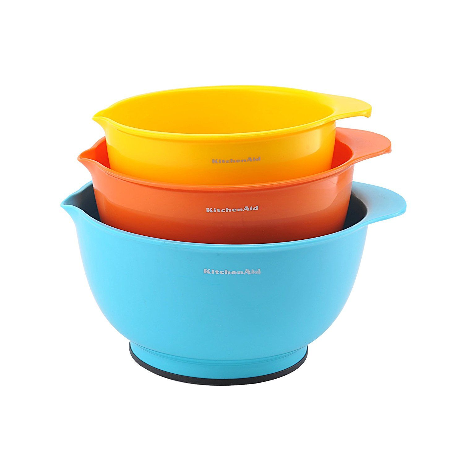 Kitchenaid Classic Mixing Bowls Assorted Colors Set Of 3 Trust Me This Is Great Mixing Bowls Baking Kitchenaid Classic Mixing Bowls Kitchen Aid