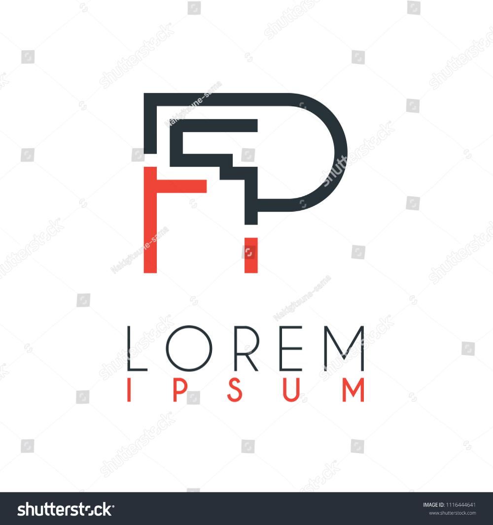 Logo Between Letter F Letter P Stock Vector Logo Fp Logo Pf