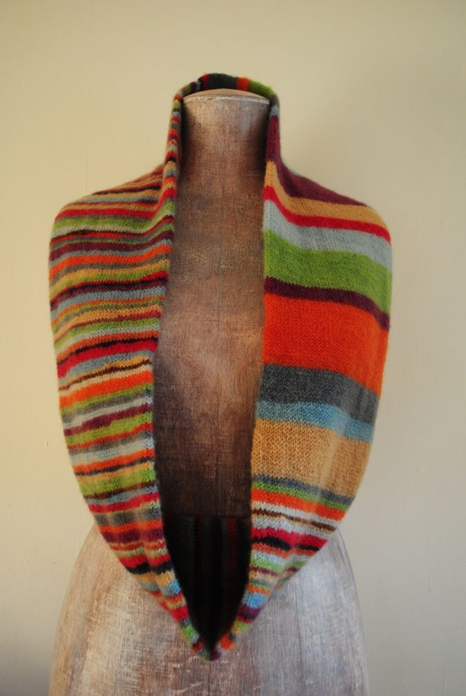 stripes and stripes infinity scarf... :) | knitting | Pinterest ...