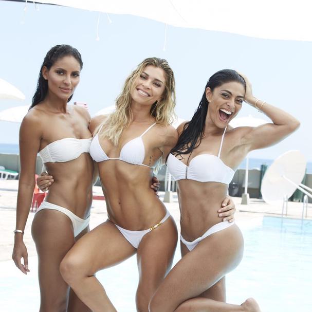 Juliana Paes, Grazi Massafera e Emanuela de Paula posam ...