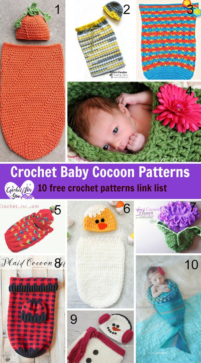 Crochet Baby Cocoon Patterns - 10 free crochet patterns link list ...