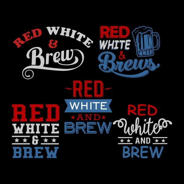 Red white brew cuttable design cut file vector clipart for Brewery design software