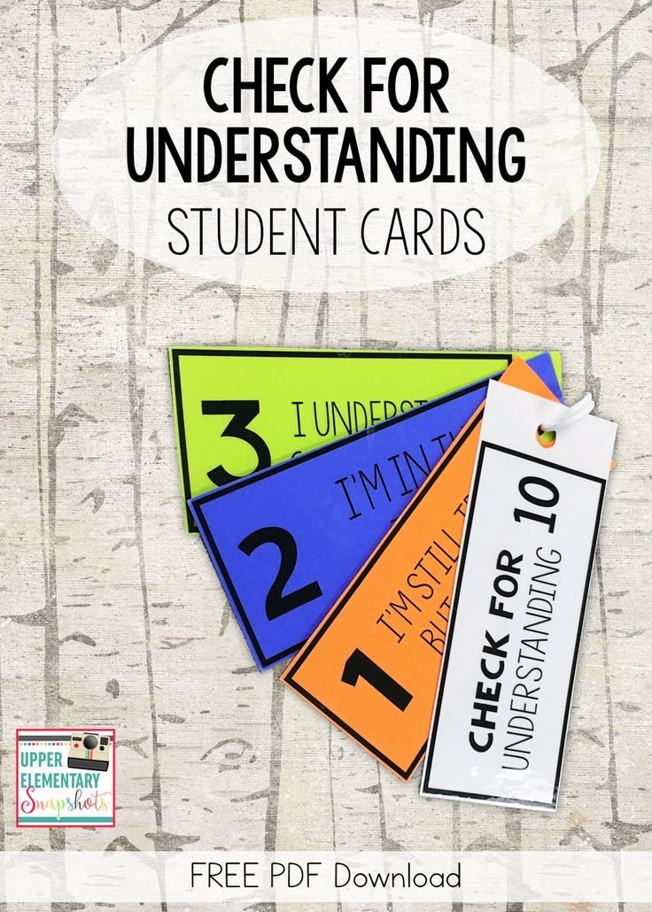 Using Self Assessment Cards During Whole Group Instruction