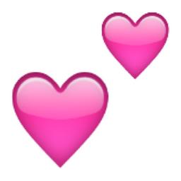 Two Hearts Emoji U 1f495 U 27 Pink Heart Emoji Heart Emoji Black Heart Emoji