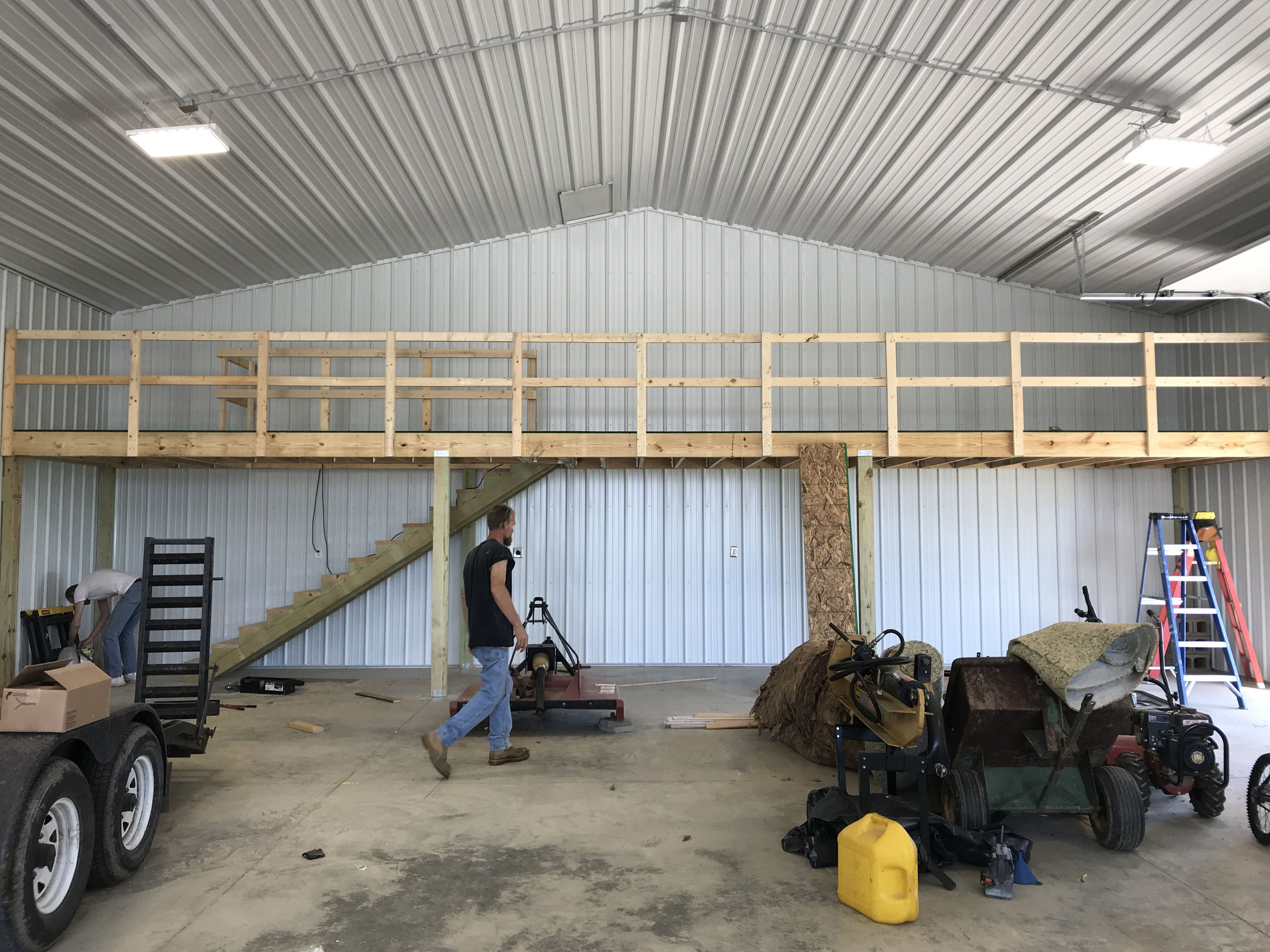Pole Barn Loft Hidden Stairs 6 5 Ft X 42 Ft Storage Above And