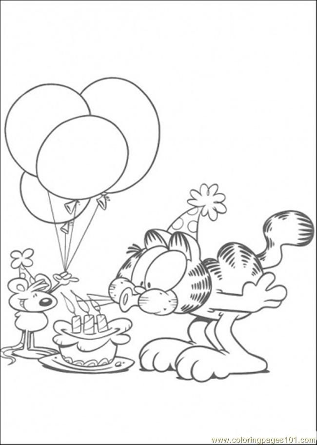 Garfield Coloring Page Birthday Coloring Pages Cool Coloring Pages Coloring Pages