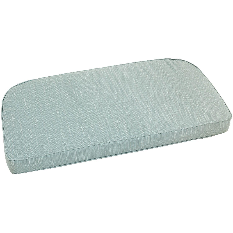 Large flat contour settee cushion in calliope spice settee