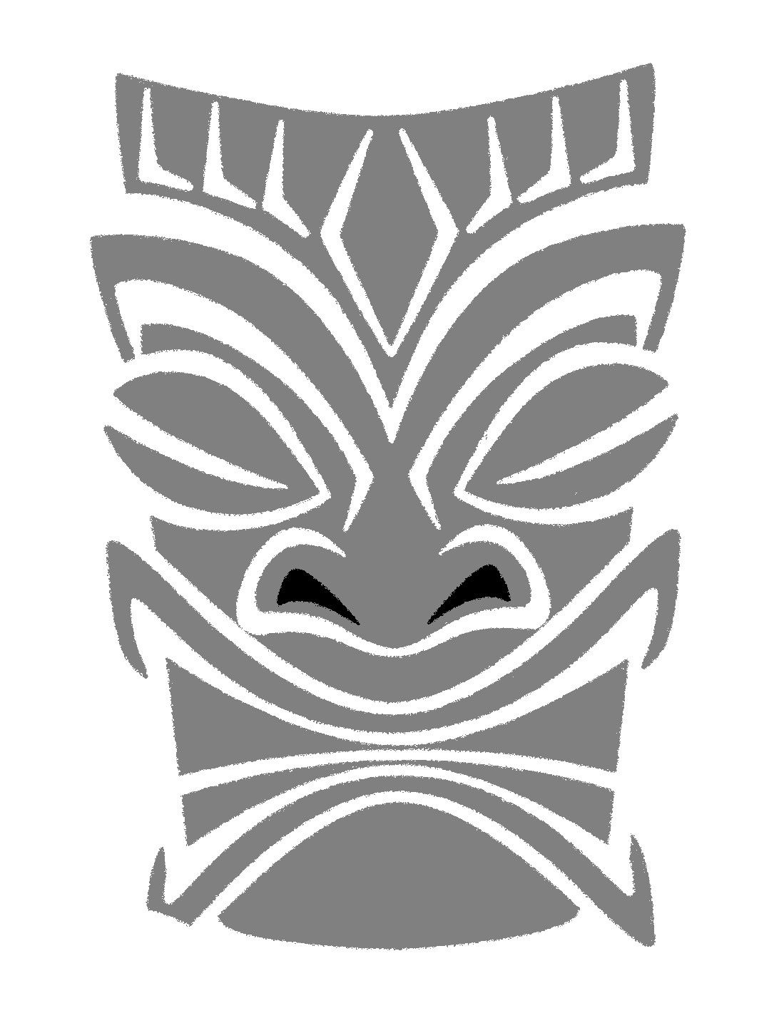 tiki mask template bing images hawaii pinterest hawaiano
