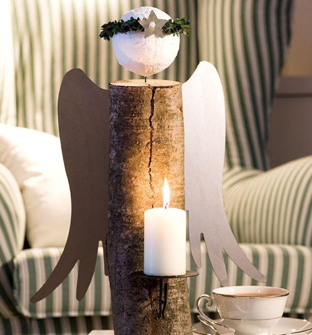 himmlische kaminholz engel weihnachten holzdeko. Black Bedroom Furniture Sets. Home Design Ideas