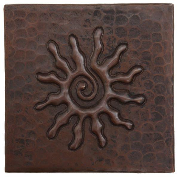 Www.coppersinksdirect.com   Copper Tile (TL303) Infinity Sun Design *free
