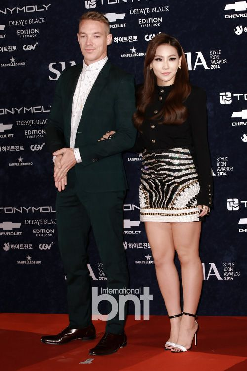 DJ Diplo & CL 이채린 (2NE1)   2014 OnStyle Style Icon Awards