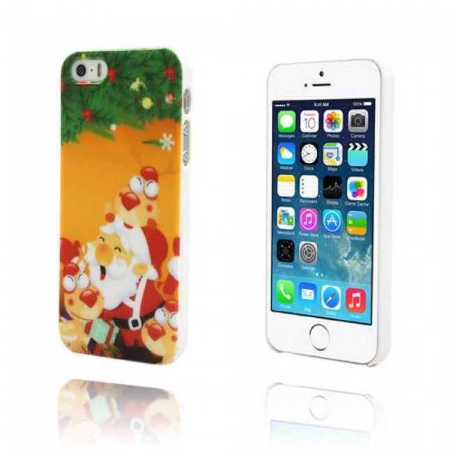 Cristmas iPhone 5/5S Suojakuori (Oranssi) - http://lux-case.fi/cristmas-iphone-5-5s-suojakuori-oranssi.html