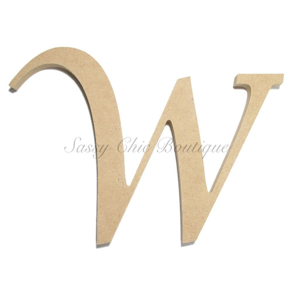 Unfinished Wooden Letter Uppercase W Lucida