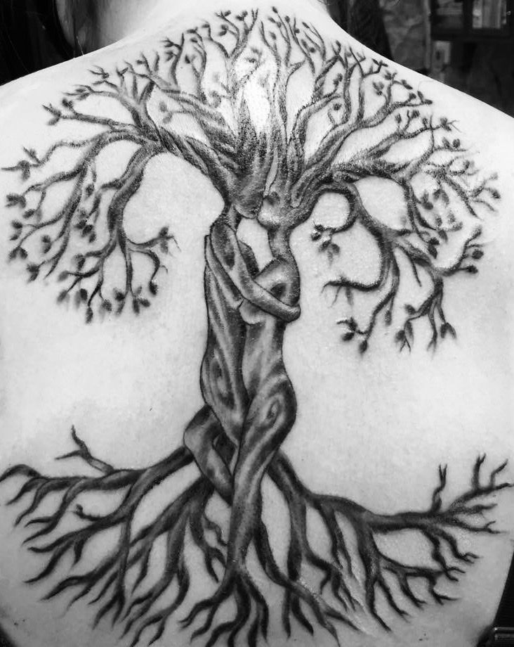 tree of life tattoo completed and on my back good mojo tattoos in