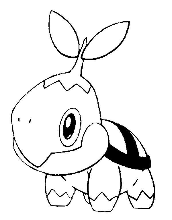 kleurplaten pokemon turtwig
