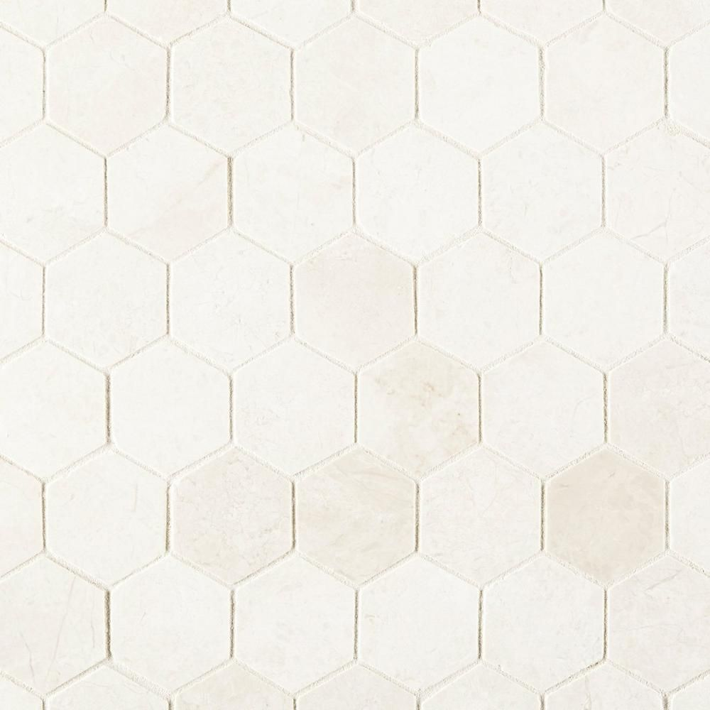 Santorini White 2 In Hexagon Polished Marble Mosaic Marble Mosaic Marble Mosaic Backsplash Polished Marble Tiles