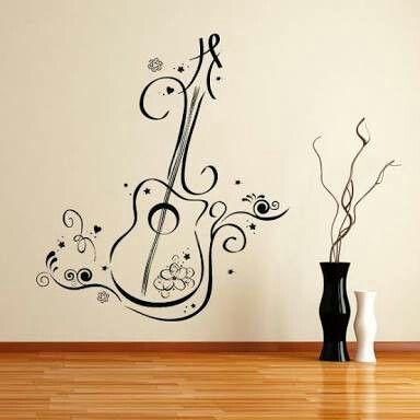 Pin by iqra khalid on wall art pinterest walls music for Habitaciones pintadas