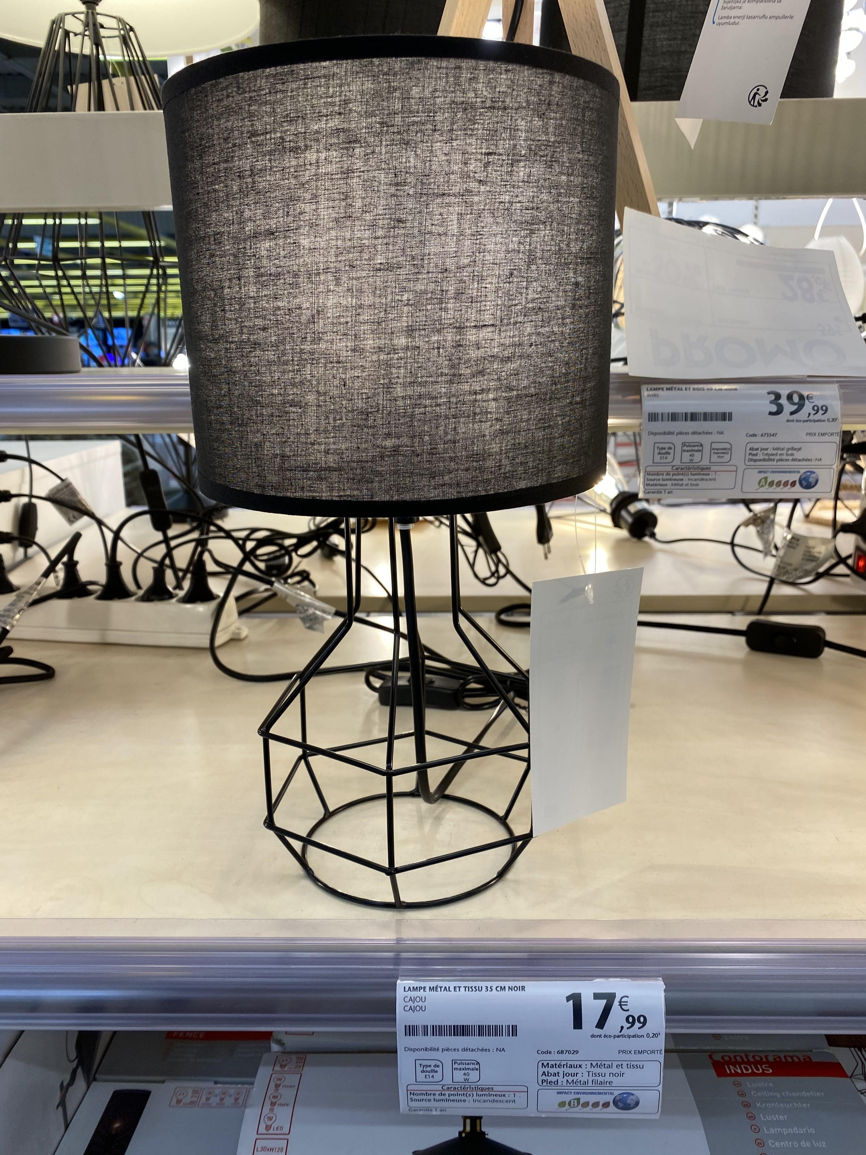 lampe 17 99 conforama mobilier