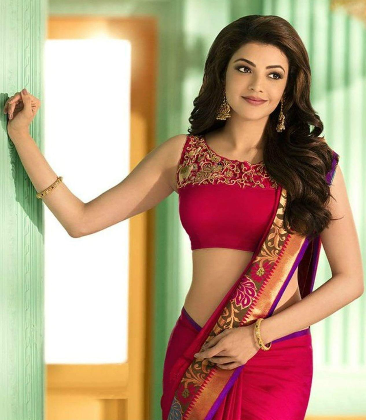 3a9c94bfb0ce3 Most Beautiful Pictures Of Kajal Agarwal Saree Photoshoot