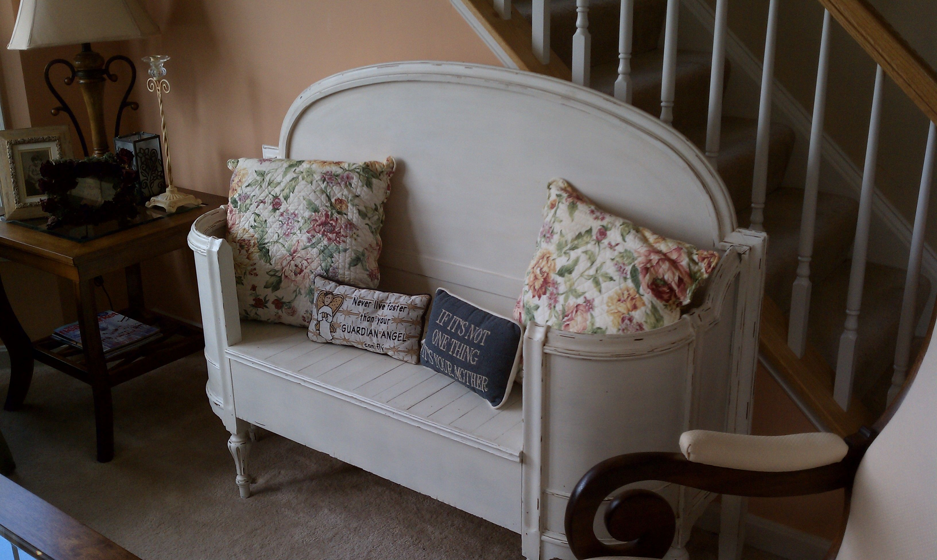 Bench with curved footboard Redo furniture, Headboard