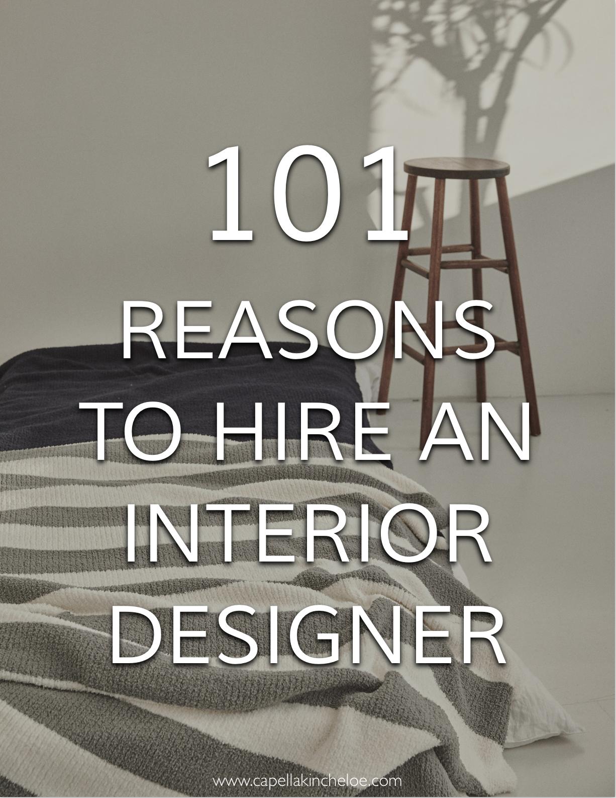 101 Reasons To Hire An Interior Designer Interior Design Books
