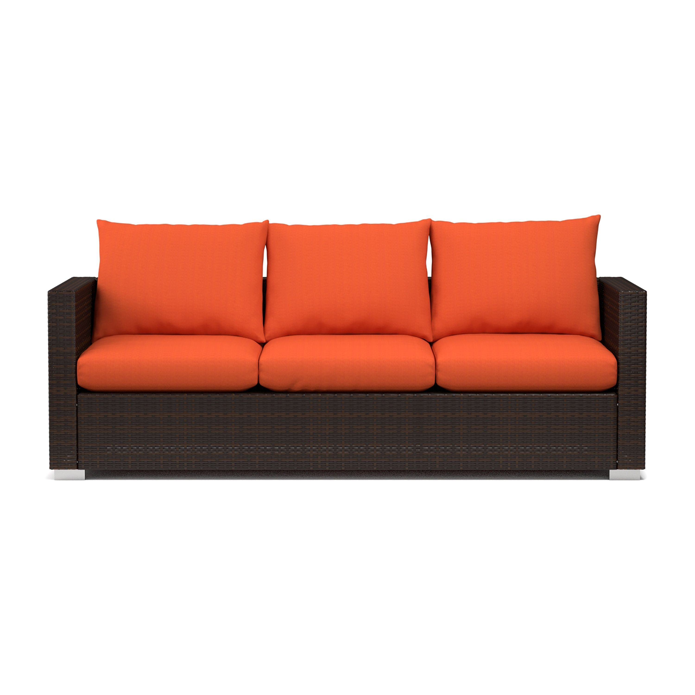 Handy Living Aldrich Indoor/ Outdoor Rattan Sofa with Sunbrella ...