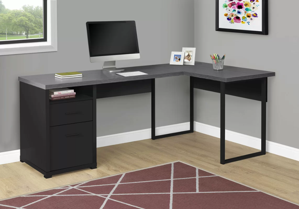 Latitude Run Darcio 2 Drawer L Shape Corner Desk Wayfair In 2020 Corner Desk L Shaped Corner Desk Desk
