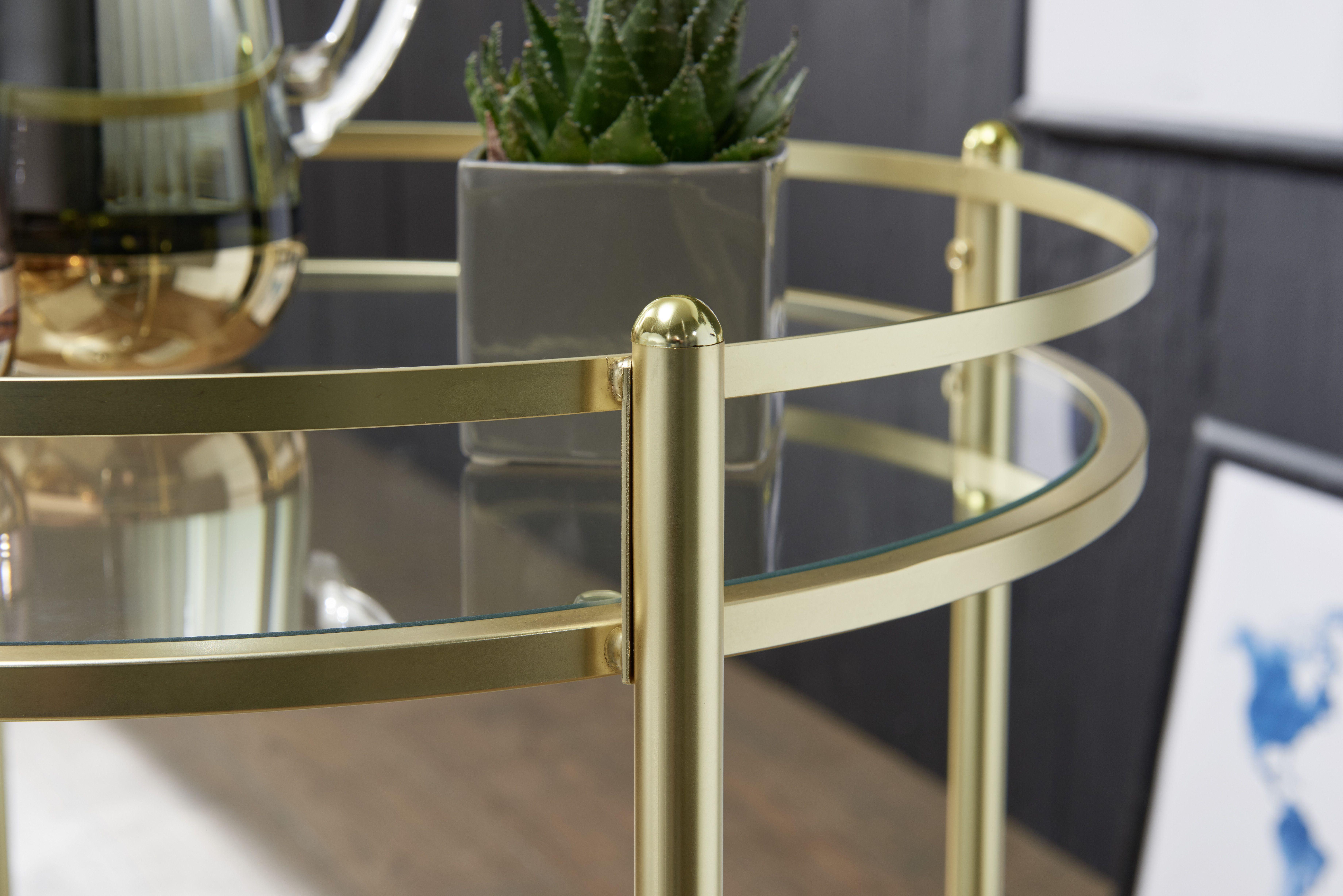 Wohnling Servierwagen James Wl5 792 Aus Glas Mit Gold Gestell Wohnzimmer Gold Glas Modern Design Dekoration Wohnidee Beistelltisch Servierwagen Design