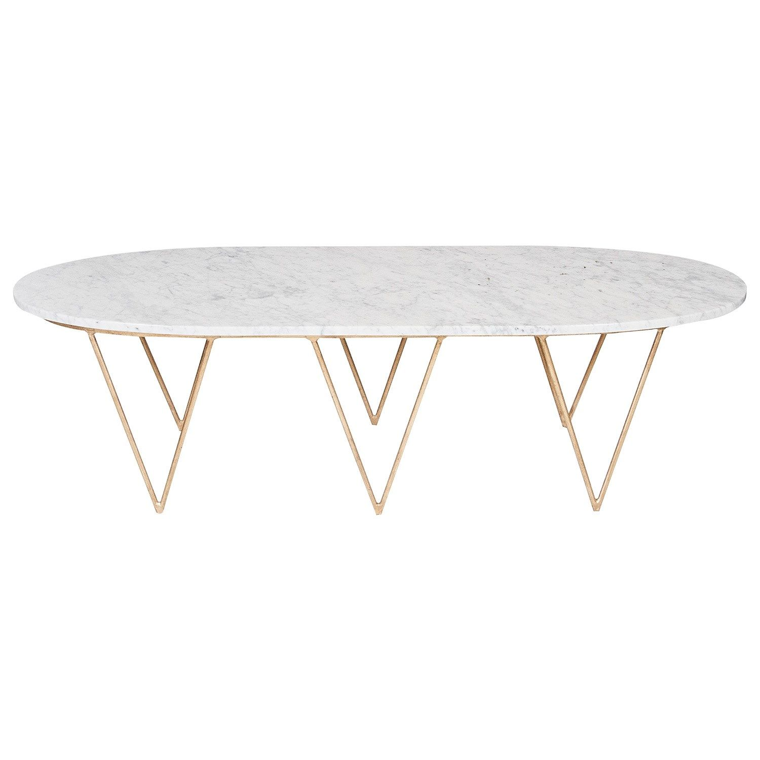 - Worlds Away Surf Gold Leafed Coffee Table White Marble Top
