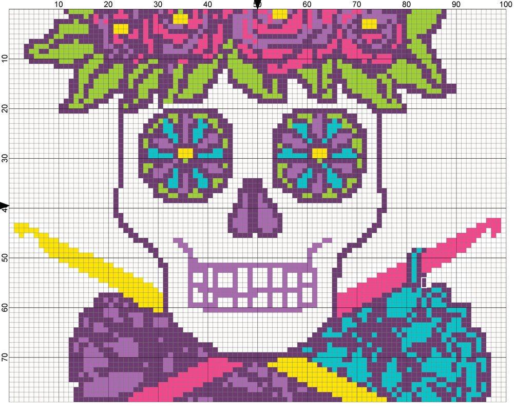 Crochet Graphs Punto de cruz Pinterest