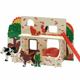 Farm Playscene Traditional Wooden Toys Wooden Toys