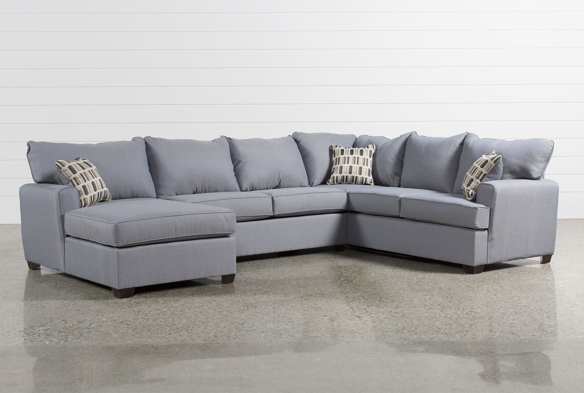 Bingham 3 Piece Sectional W/Laf Chaise   Living Spaces