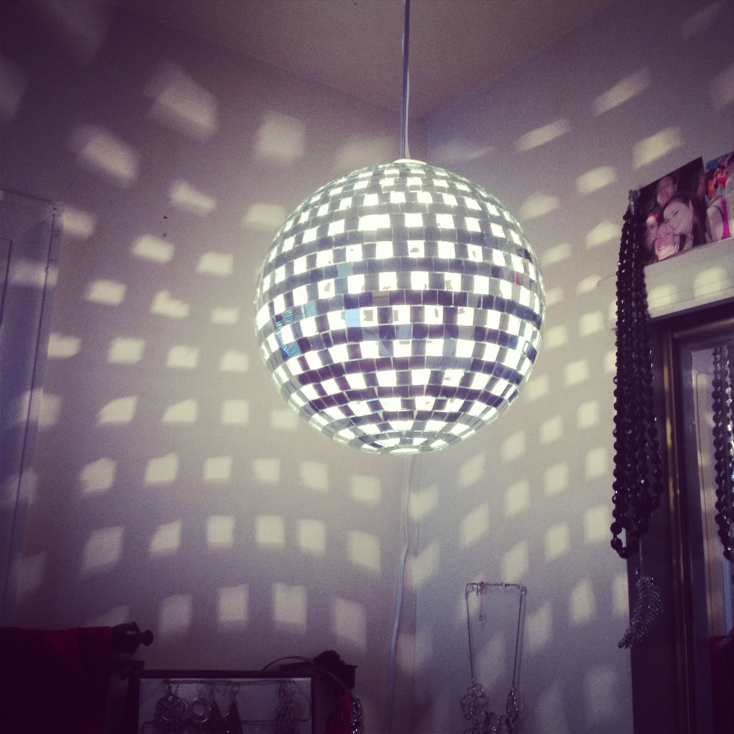 Disco ball light diymine and wishfully mine pinterest disco ball light aloadofball Image collections