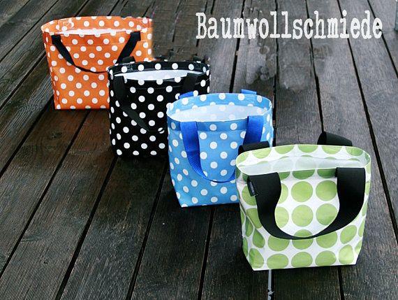 Rockabilly Oilcloth Bag for Shopping, Beach, Giftbag, Sauna ...
