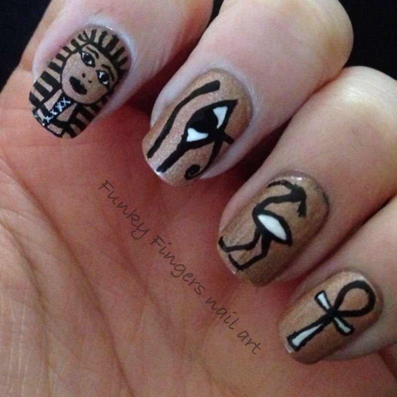 Nailpolis Museum Of Nail Art Egyptian Nails By Funky Fingers Nail