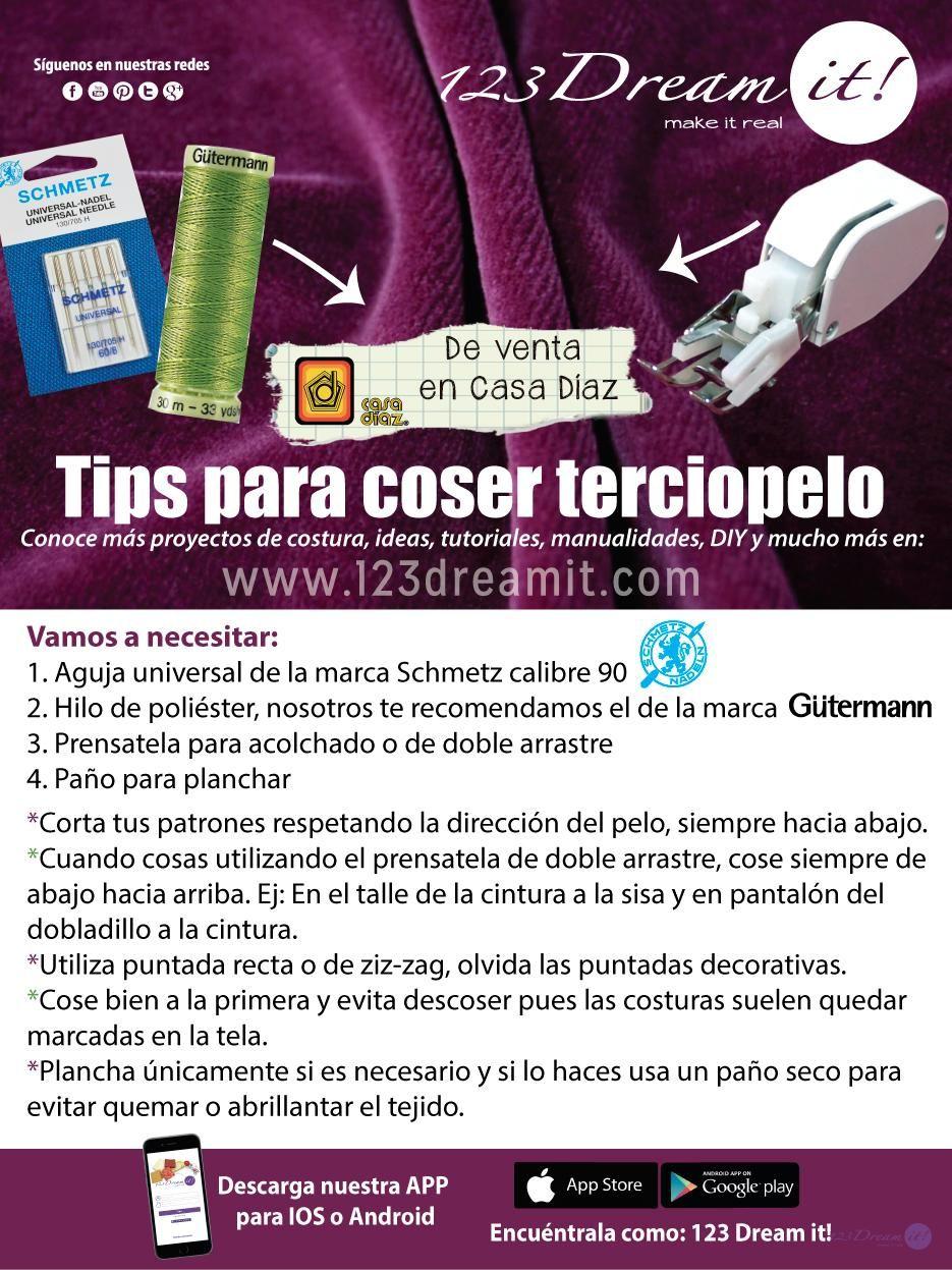123 Dream it   TIP COSTERAS   Pinterest   Costura, Cosas y Técnicas ...