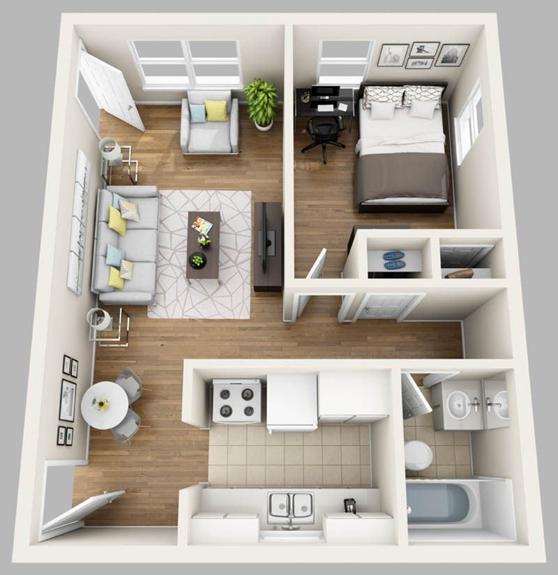 Here At College Park Gainesville We Lease Studio One Bedroom Two Bedroom Three Bedroom Four Sims House Plans Studio Apartment Floor Plans Apartment Layout