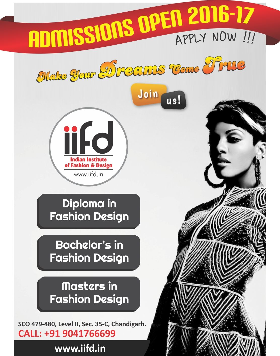Make Your Dreams Come True Join IIFD Fill Online Application