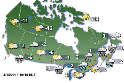 Weather Forecast Canada Map Projects To Try Weather