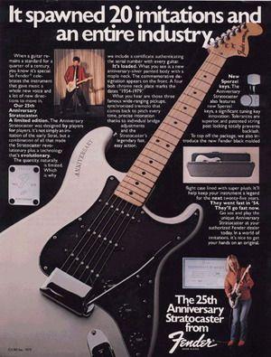 25th Anniversary Stratocaster ads