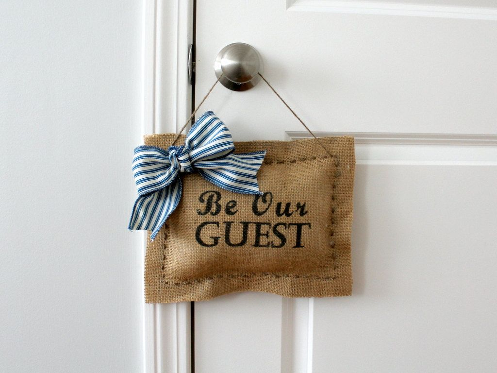 Be Our Guest Door Hanger by Creazi on Etsy