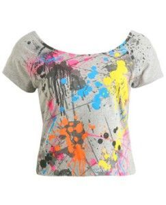 2374f0a717e8f Make our own paint splatter shirts | Totally 80's birthday party ...