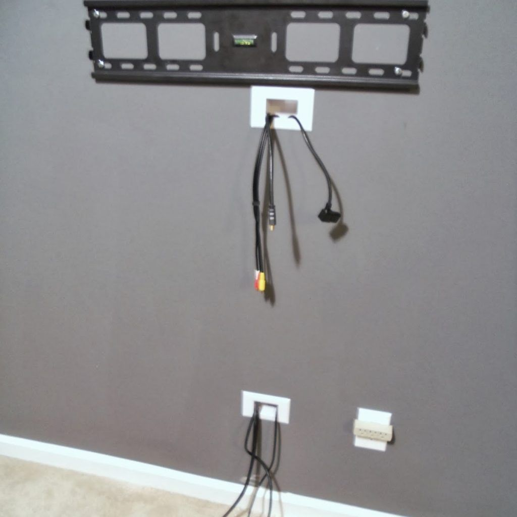 ways to hide cables from wall mounted tv house pinterest. Black Bedroom Furniture Sets. Home Design Ideas