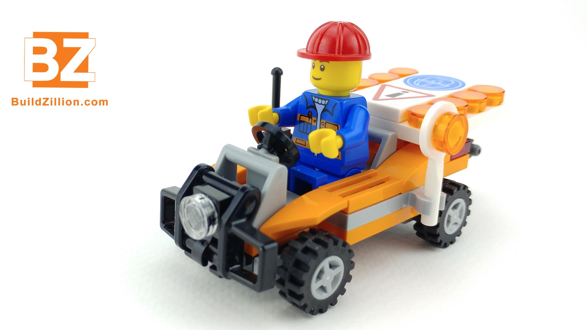 LEGO time lapse speed build animation of Lego city road worker, set