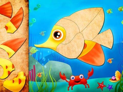 Animated Puzzle for Kids and Toddlers - 48 sea-themed puzzles for younger kids. Appysmarts score: 82/100